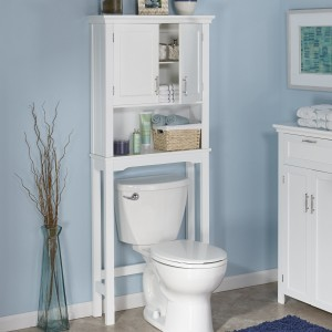 over the toilet storage options