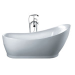 hi back pedestal freestanding tub