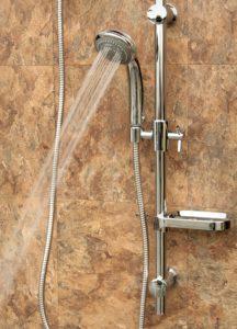 sliding shower head