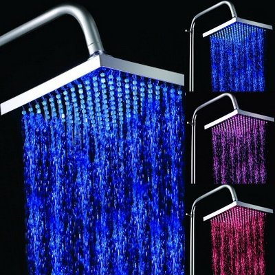 rain light up shower head