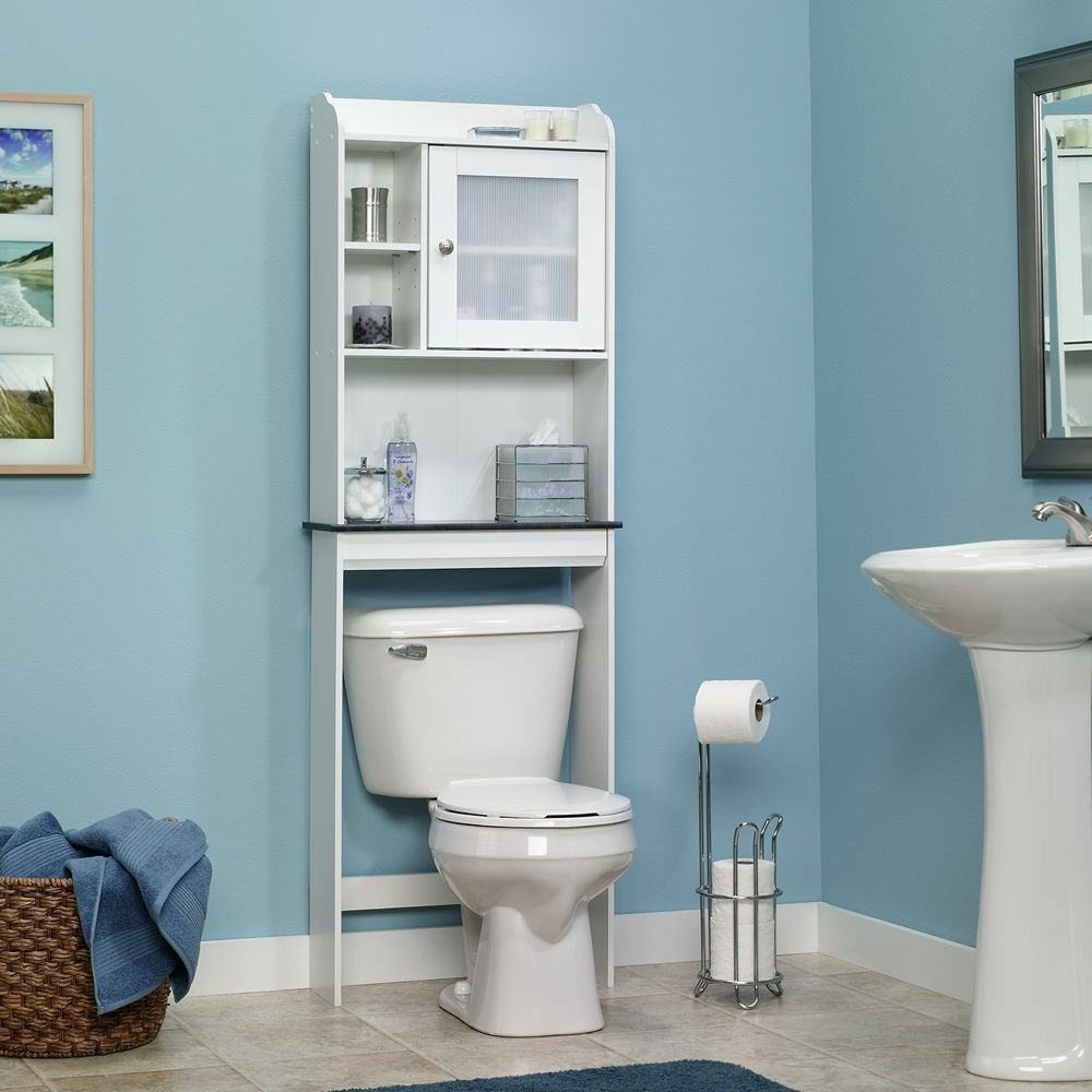 sauder caraway over toilet storage cabinet